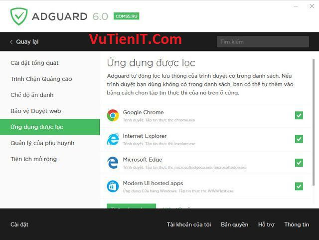 Download Adguard Full phan men chan quang cao website tot nhat 2