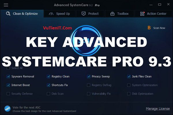Download Advanced System Care Pro 9.3 Full key ban quyen 1 nam 2