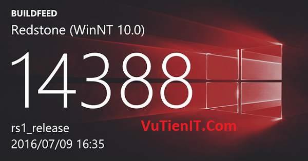 Download Windows 10 Insider Preview Build 14388 ISO 32bit và 64bit