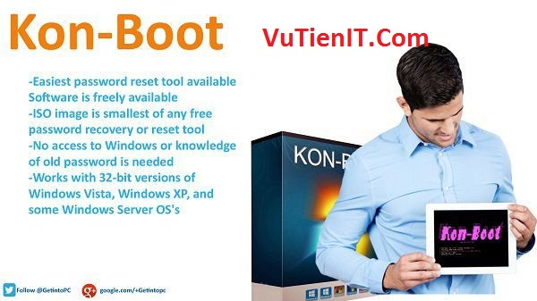 Kon-Boot V2.5. Kon-Boot V2.5 dang nhap windows khi quen password