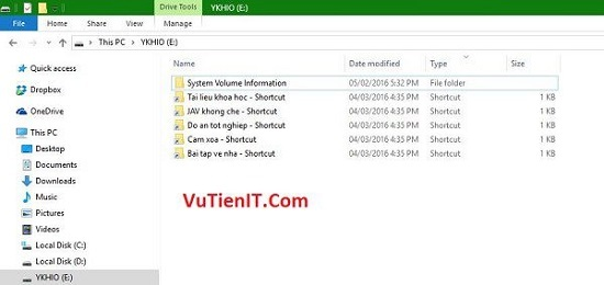 diet viruts trong usb tao file shortcut 1kb 1