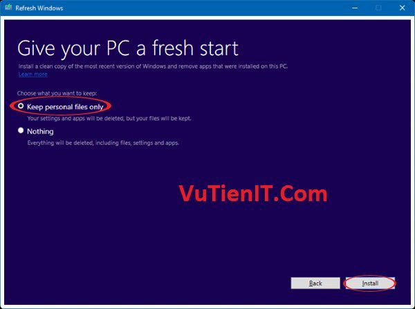 huong dan cai windows bang Refresh Windows Tool v2 3