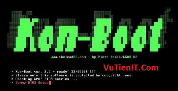 huong dan su dung Kon-Boot V2.5 vuot password windows