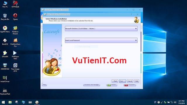 phan men Lazesoft pha password windows tot nhat