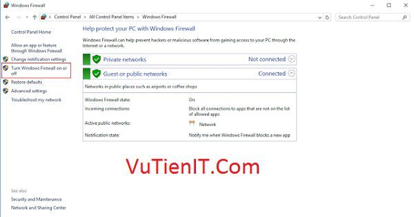 tat tuong lua Windows Firewall 2