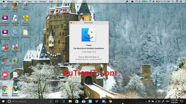 Huong cai giao dien mac os tren Windows 10 Anniversary Update