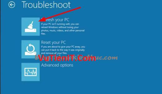 Refresh your PC windows 10