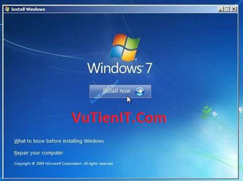 click vao install windows