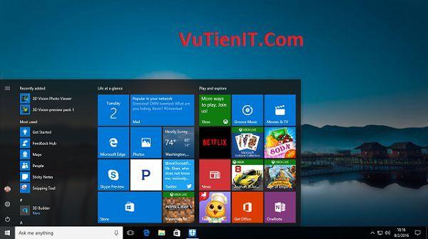 danh gia Windows 10 Anniversary Update 1607
