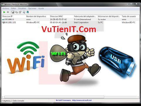 Wireless Network Watcher phan men hien thi nguoi dung su dung mang wifi