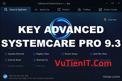 Download Advanced System Care Pro 9.3 Full key ban quyen 1 nam