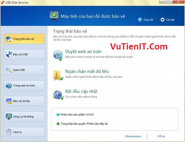 Download USB Disk Security 6.5.0 Full Crack phan men bao ve usb khoi virut