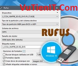 download rufus 2.9 phan men tao usb boot windows tot nhat