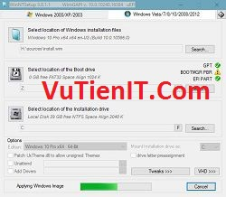 huong dan cai Windows chuan uefi gpt bang winntsetup