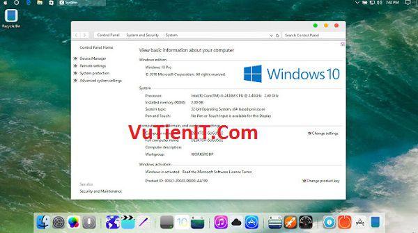 huong dan cai dat giao dien Mac OS lên Windows 10 Anniversary Update 1607
