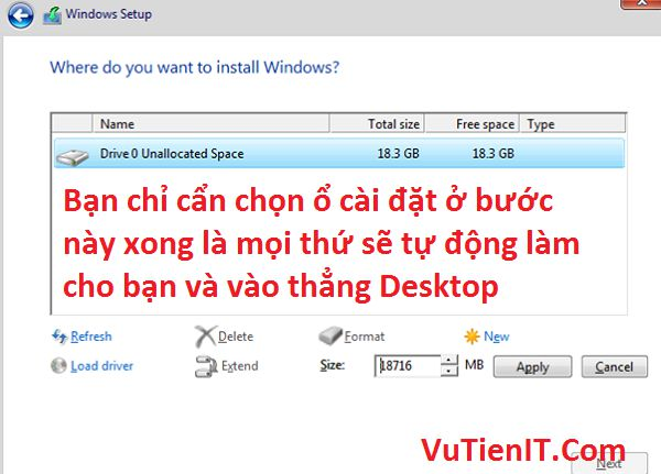 cai dat Windows 10 Creators Update Version 1703 tu dong