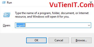open regedit run windows
