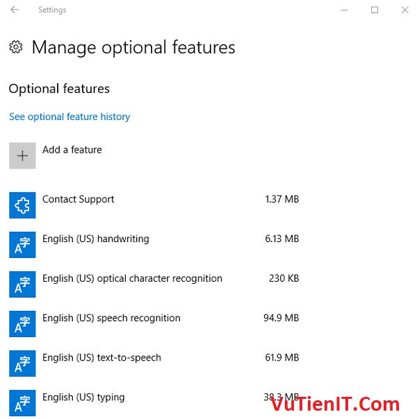Manage optional features