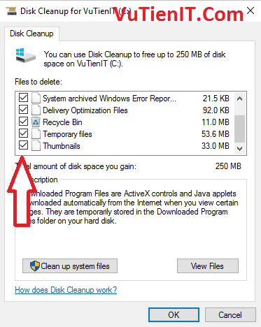 disk cleanup win 10