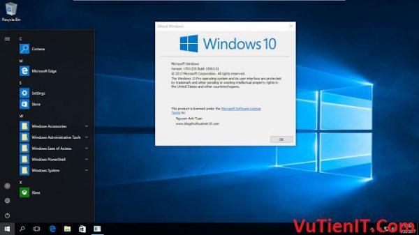 tai Windows 10 Pro Lite Version 1703 Creators Update danh cho may tinh yeu