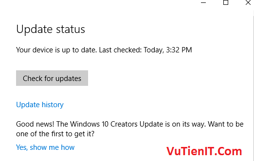 windows 10 1703 update status