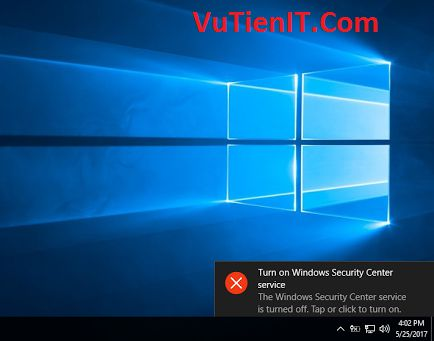 Disable Windows Security Center Service windows 10