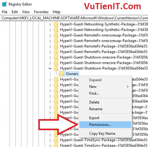 Permissions Registry Editor Windows 10