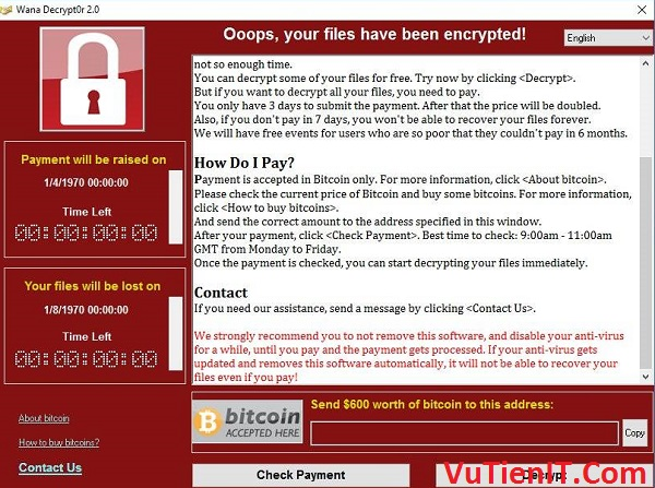 ban cap nhat windows phong chong virut Virut Ransomware WannaCry