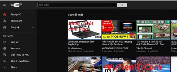 cai dat giao dien toi tren youtube.com
