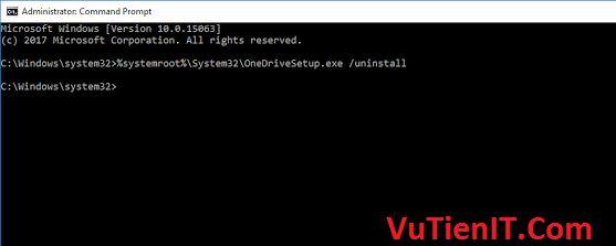 uninstall OneDrive in windows 10