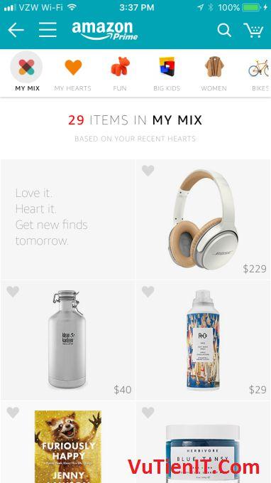 Amazon ra mat cua hang My Mix