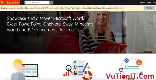 Microsoft rut lui trang docs.com