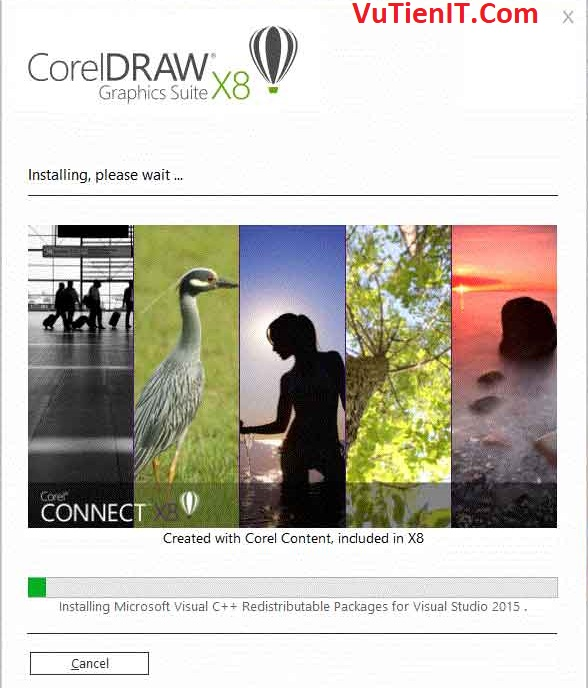 installing coreDRAW x8