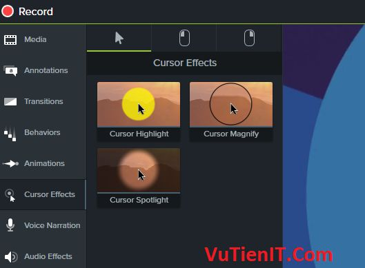 Cursor Effects Camtasia Studio 9