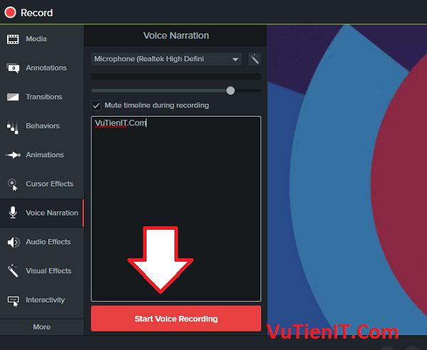 Voice Narration Camtasia Studio 9