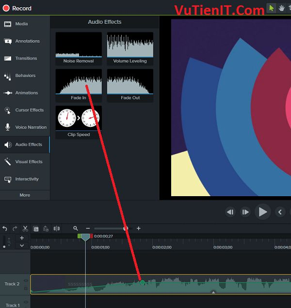 audio effects Camtasia Studio 9