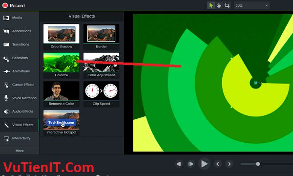 visual effects Camtasia Studio 9