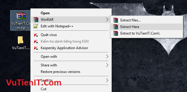 Extract file winrar