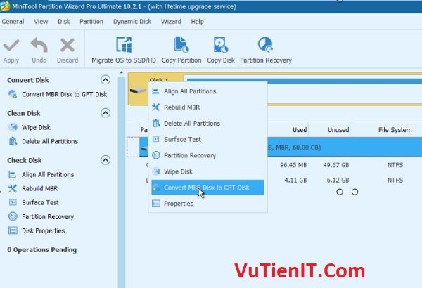 convert mbr disk to gpt disk