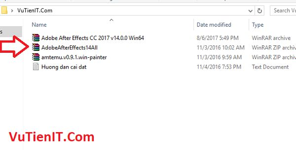 huong dan cai dat Adobe After Effect CC 2017 01