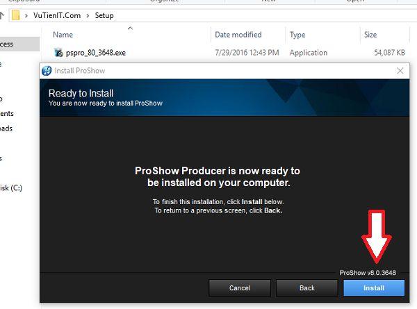 huong dan cai dat ProShow Producer 8 Full crack 4