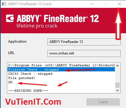 huong dan crack ABBYY FineReader pro 12 02