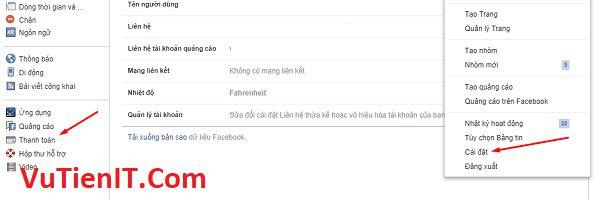 tao phuong thuc thanh toan facebook