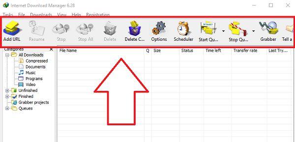 thay doi icon Toolbar IDM