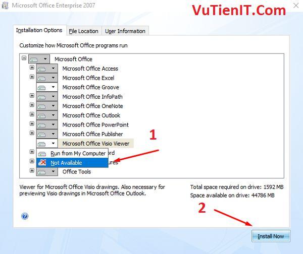 huong dan cai dat Office 2007 full active 3