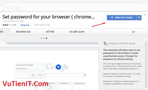 Set password for your browser chrome