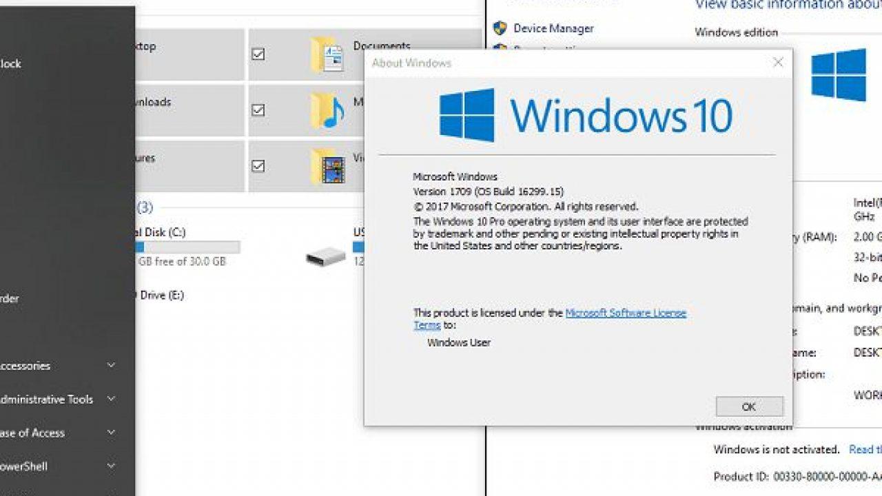 Windows 10 Pro 1709 Lite Rút Gọn Dành Cho Máy Tính Cấu Hình Yếu