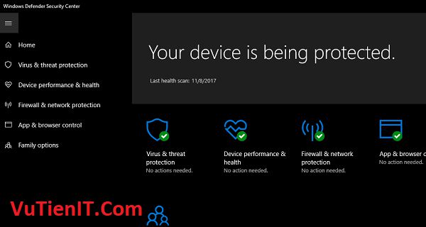 xoa bo Windows Defender win 10 1709