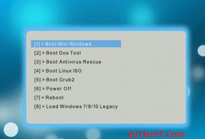 USB Boot Legacy