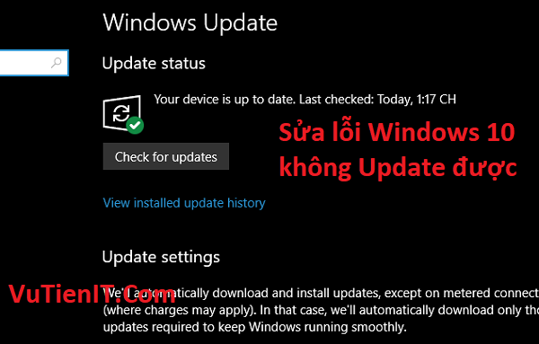 sua loi windows 10 khong update